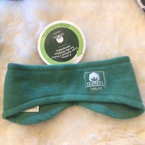 Natural Cotton fleece ear warmers headband
